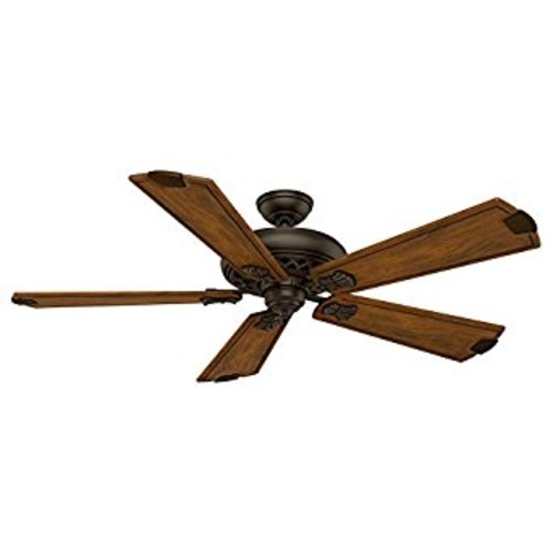 Casablanca 55035 Fellini 60-Inch Ceiling Fan with Five Walnut Blades and Wall Control, Brushed Cocoa [Brown]