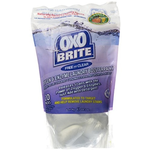 Earth Friendly Products Oxo-Brite Laundry Booster Packs, Free and Clear, 14.5 oz