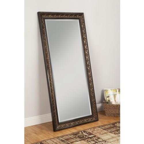Sandberg Furniture Black Finish Full Length Leaner Mirror