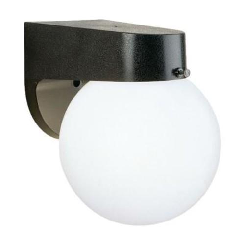 Thomas Lighting 1-Light Black Outdoor Wall-Mount Lantern