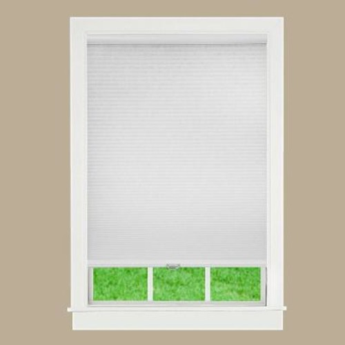 Perfect Lift Window Treatment White 1 in. Cordless Light Filtering Cellular Shade - 70 in. W x 48 in. L (Actual Size: 70 in. W x 48 in. L )