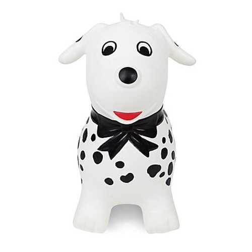 Waddle Spots the Dog Inflatable Ride-On Toy in Black/White