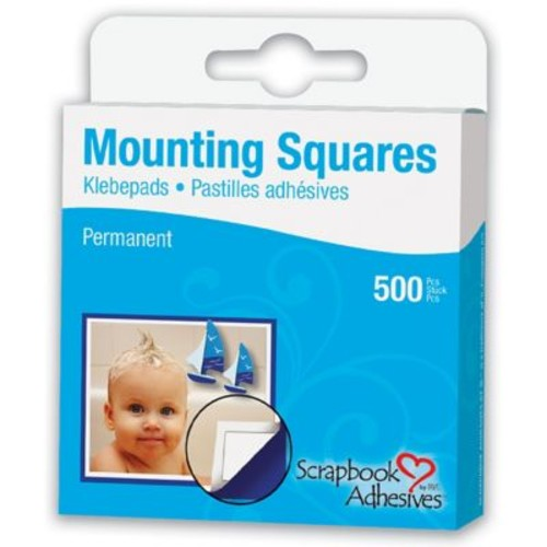 Scrapbook Adhesives Mounting Squares 500/Pkg-Permanent, White, .5
