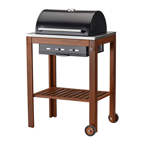 PPLAR / KLASEN Charcoal grill, brown stained
