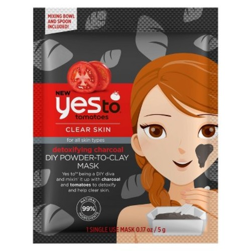 Yes to Tomatoes Detoxifying Charcoal DIY Powder-to-Clay Mask - .33oz