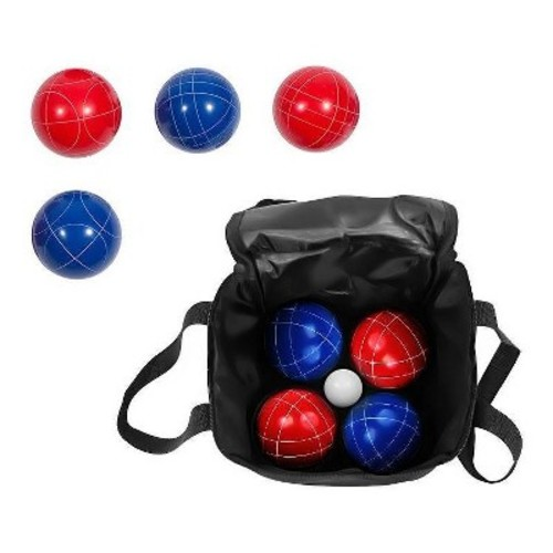 Bocce Ball Premium Set - Top Quality Resin Balls - 9 Balls with Carry Case By Trademark Innovations [90mm]