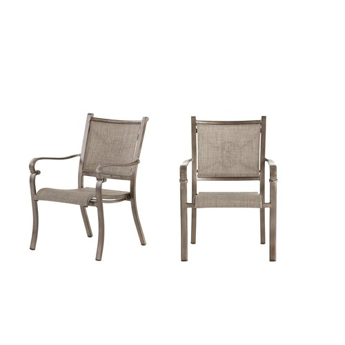Home Decorators Collection Home Decorators Collection Wilshire Estates Aluminum Sunbrella Sling Outdoor Dining Chair ( 2-Pack)