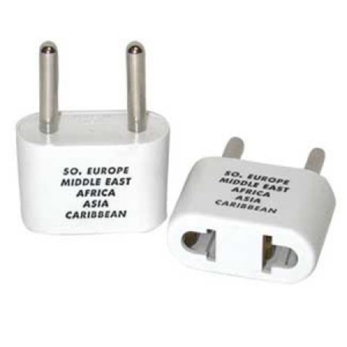 Travel Smart Adapter Plug - Europe, Middle East, parts of Africa, Asia, Caribbean