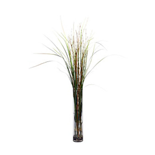 Nearly Natural Grass & Bamboo with Cylinder Silk Plant