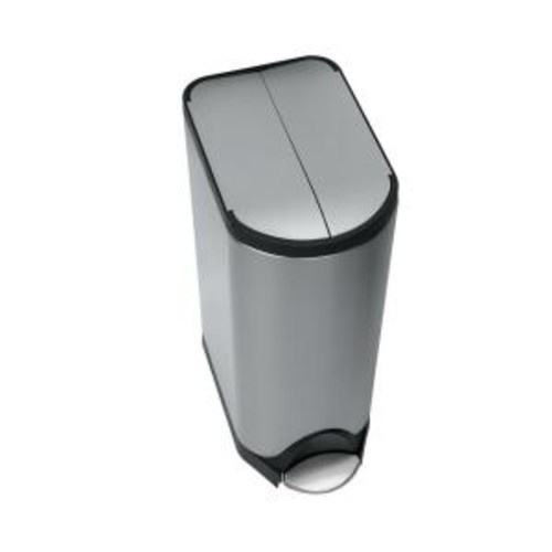 simplehuman 30-Liter Fingerprint-Proof Brushed Stainless Steel Butterfly Step-On Trash Can