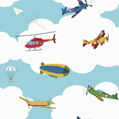 York Wallcoverings Waverly Kids in the Clouds Wallpaper