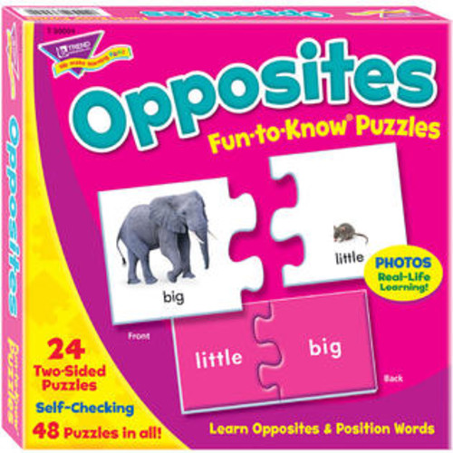 Trend Enterprises Inc. Opposites Fun-to-Know Puzzles