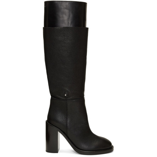 MM6 MAISON MARTIN MARGIELA Black Layered Boots