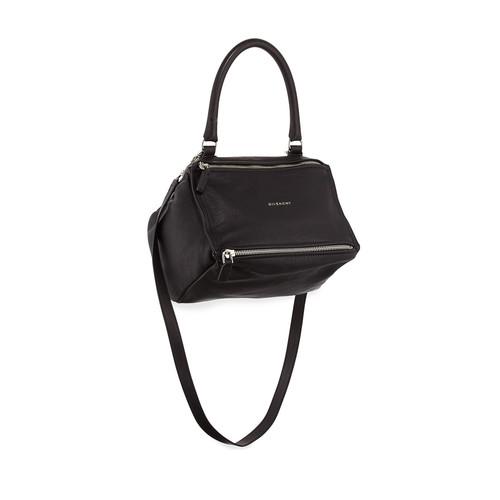 GIVENCHY Pandora Sugar Small Leather Shoulder Bag, Black