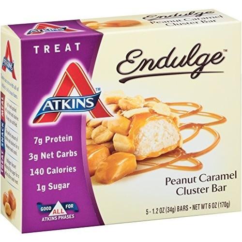 Atkins Treat Bar, Peanut Caramel Cluster 5 - 1.2 oz (34 g) bars 6 oz (170 g)