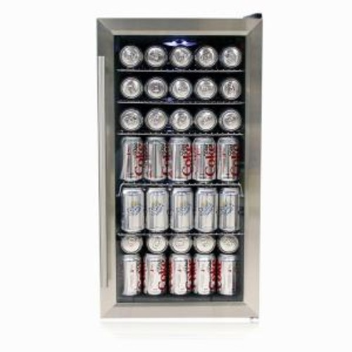Whynter 27-Bottle or 117 (12 oz.) Can Beverage Refrigerator in Stainless Steel