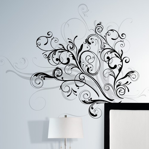 RoomMates RMK1577GM Forever Twined Peel and Stick Giant Wall Decal