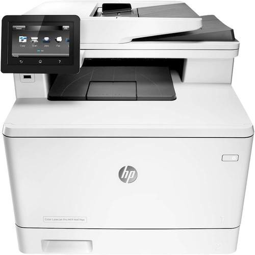 HP - Refurbished LaserJet Pro MFP m477fdn Color All-In-One Printer - White