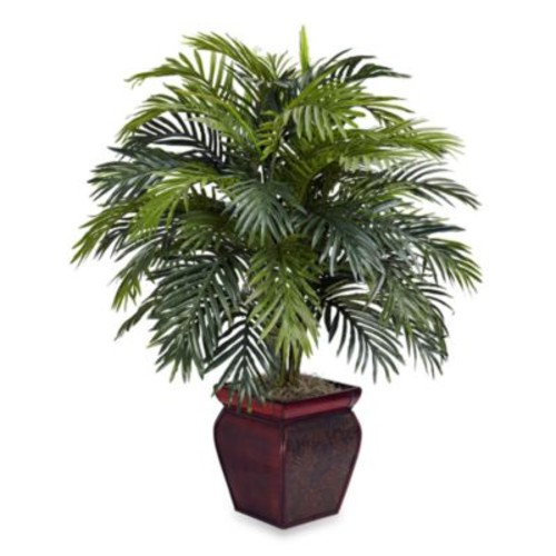 Nearly Natural Silk Areca Palm Plant With Pot