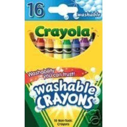 Crayola Washable Crayons - 16 Each