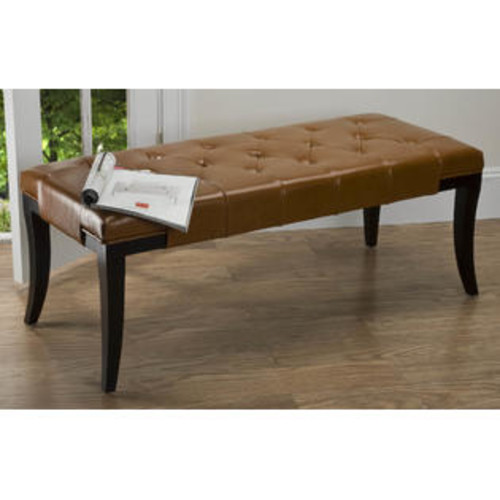 Safavieh Tyler Leather Bench Color: Saddle