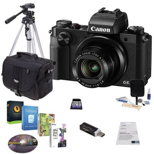 Canon PowerShot G5 X Digital Camera with Free Accessories Kit, Black 0510C001 A