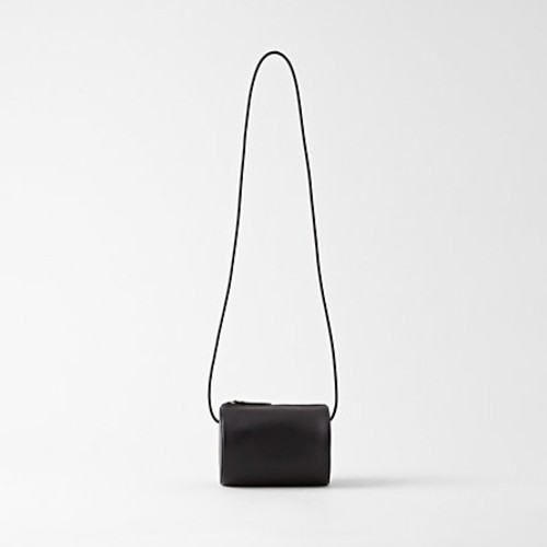 cylinder sling bag - black