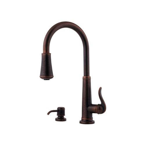 Pfister Ashfield Single-hole Kitchen Faucet GT529-YPU Rustic Bronze