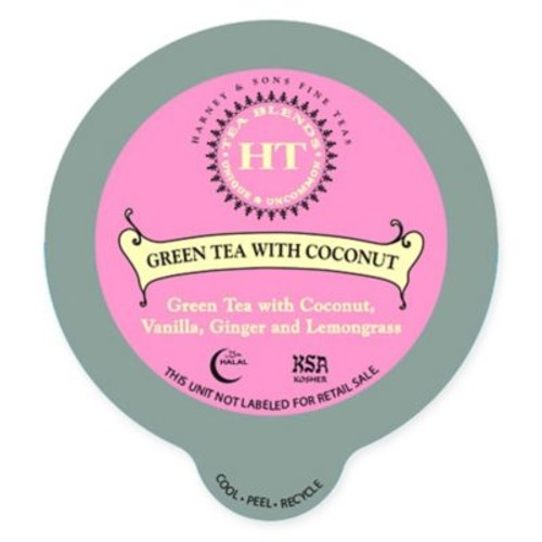 16-Count Harney & Sons Green Tea with Coconut & Ginger Tea