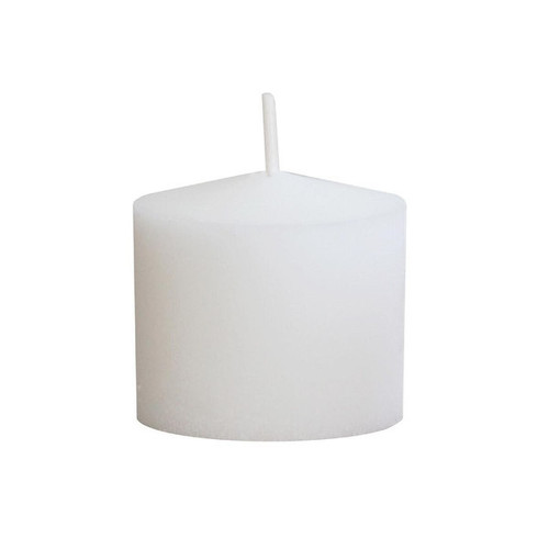 Pack of 72 White Long Burning 10-Hour Molded Wax Votive Candles