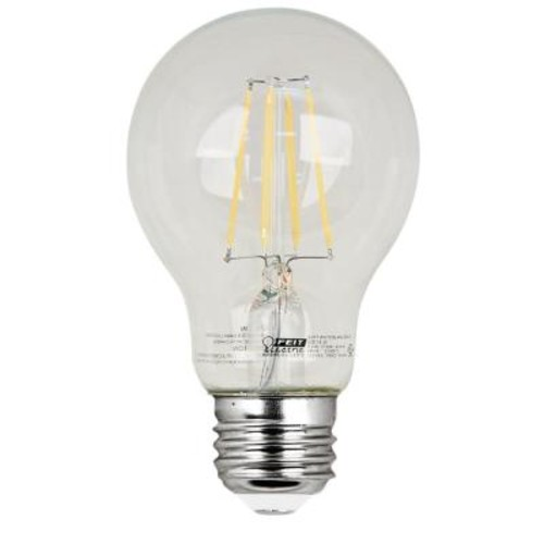 Feit Electric 60W Equivalent Soft White (2700K) A19 Filament LED Clear Glass Light Bulb (Case of 8)