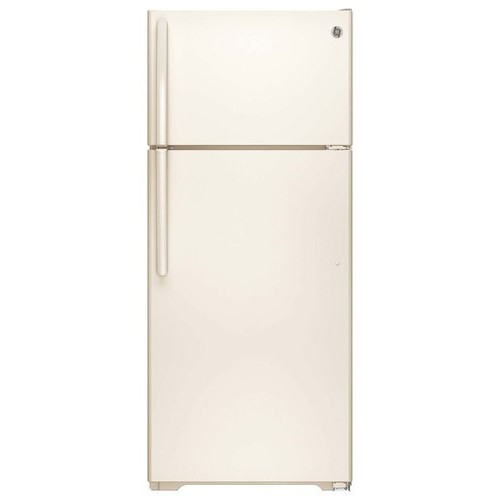 GE 17.5 cu. ft. Top Freezer Refrigerator in Bisque