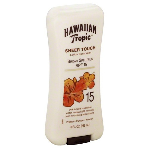 Hawaiian Tropic Lotion Sunscreen, Sheer Touch, SPF 15, 8 fl oz (236 ml)