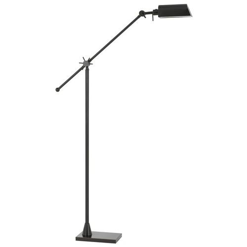 Brown Metal Adjustable LED Floor Lamp