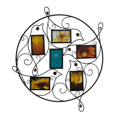 Melannco 6-Opening 4'' x 6'' Bird Collage Frame