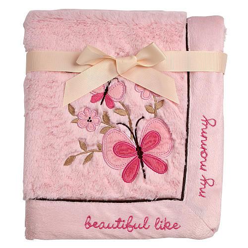 Koala Baby Butterfly Pink Cuddle Plush Blanket
