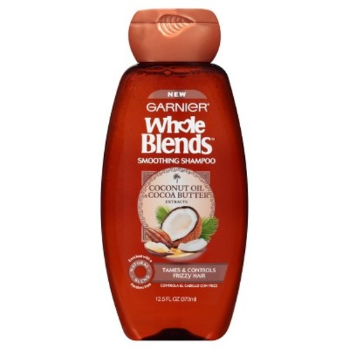 Garnier Whole Blends Coconut Oil & Cocoa Butter Extracts Smoothing Shampoo - 12.5oz