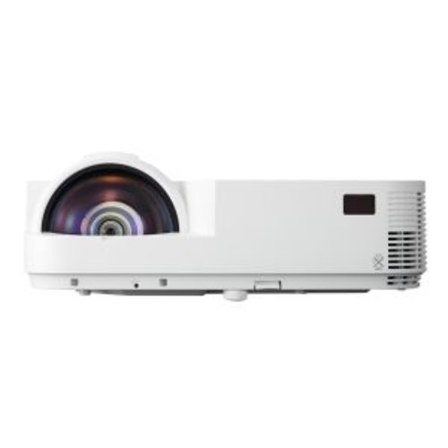 NEC M353WS - DLP projector - 3D - 3500 ANSI lumens - WXGA (1280 x 800) - 16:10 - HD 720p - short-throw fixed lens - LAN with 1 year NEC InstaCare Service