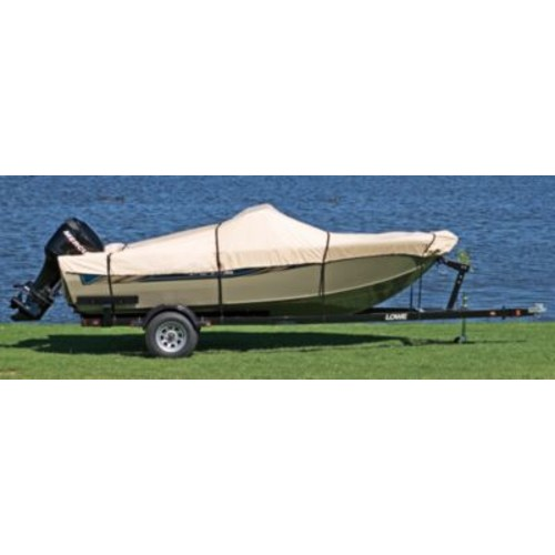 Cabela's 600 Denier Universal-fit Cover [Length : 12' - 14'; Style : V-Hull Fishing Boats without windshield; Model : AA; Max Beam : 68