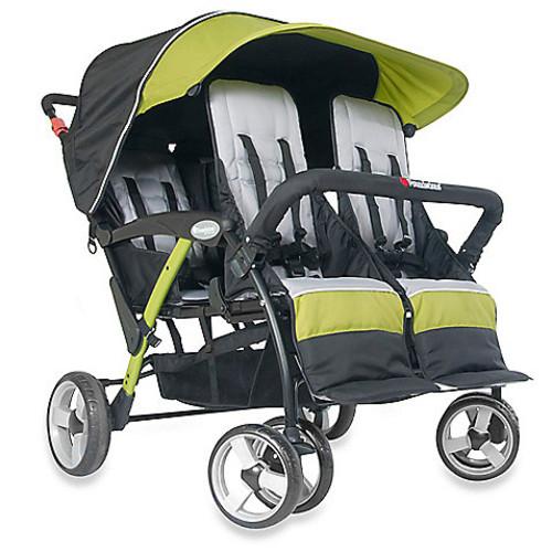 Foundations Quad Sport Splash of Color 4-Passenger Stroller in Lime