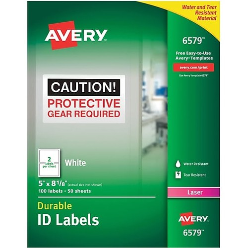 Avery Permanent Durable ID Labels With TrueBlock, 5