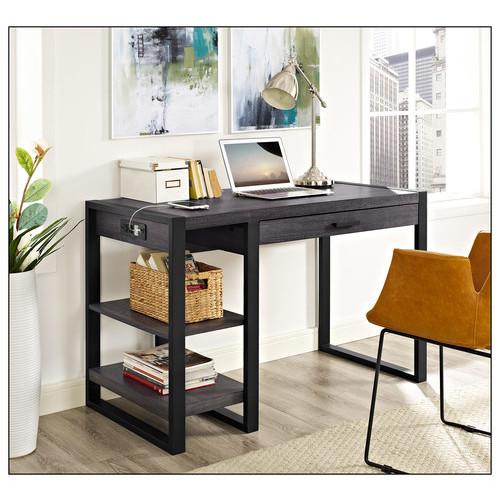 Walker Edison - Industrial Tech Computer Desk - Gray