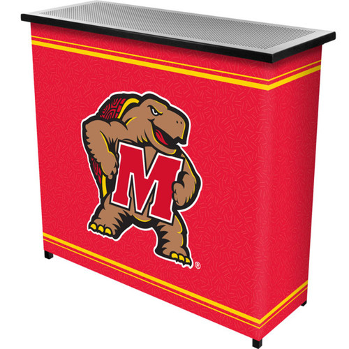 Trademark Global CLC8000-MD Maryland UniversityT 2 Shelf Portable Bar with Case