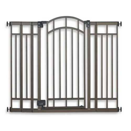 HOMESAFE by Summer Infant Multi-Use Deco Extra Tall Walk-Thru Gate in Bronze