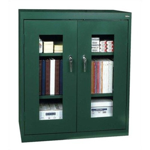 Clear View Extra Large Capacity Counter Height Cabinet Color: Black