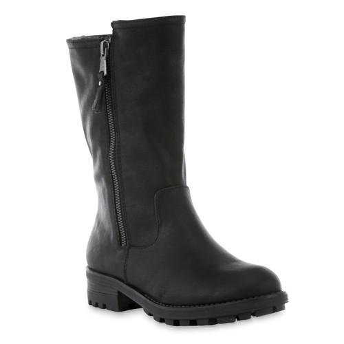 Women's Abelia Black Mid-Calf Boot [Width : Medium]