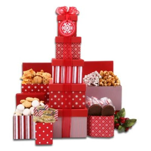 Something for Everyone Tower of Treats by Alder Creek Gift Baskets