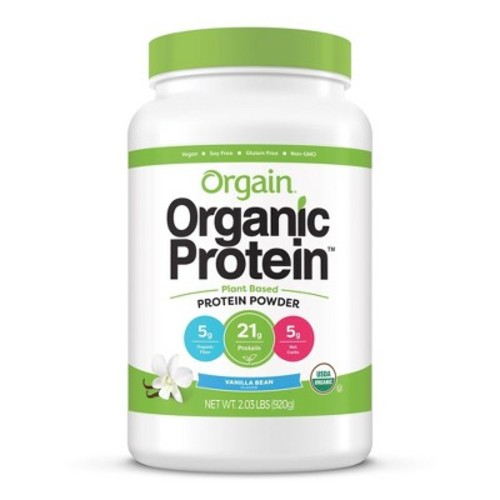 Orgain Organic Protein Plant-Based Protein Powder - Sweet Vanilla Bean - 2.03lbs