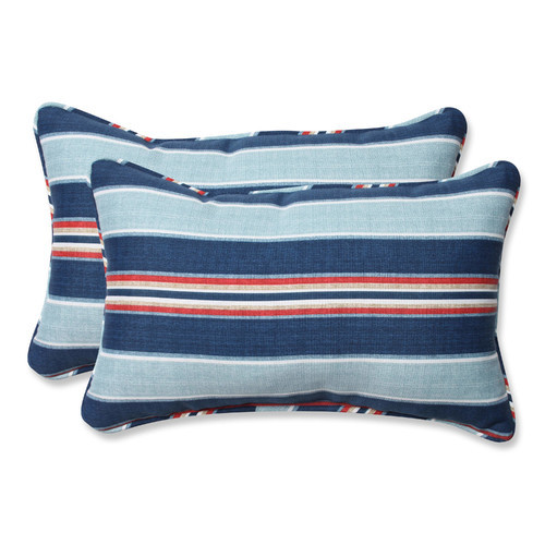 Pillow Perfect Outdoor/ Indoor Kingston Stripe Arbor Rectangular Throw Pillow (Set of 2)
