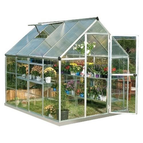 Palram Nature Greenhouse - Silver (6 x 8 x 7)